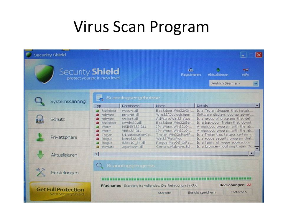 Virus Scan Program
