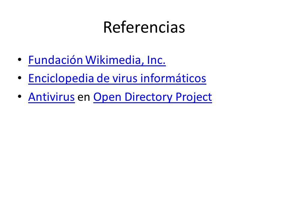 Referencias Fundación Wikimedia, Inc.