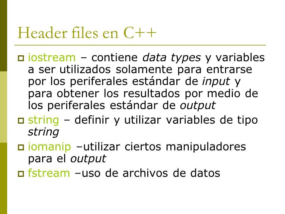 Header files en C++