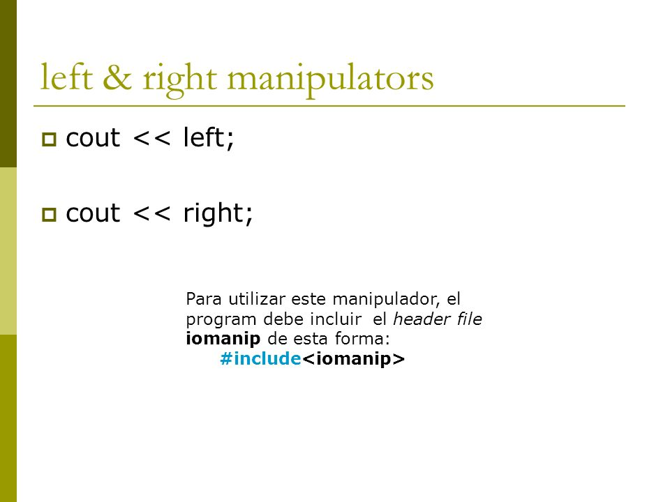 left & right manipulators