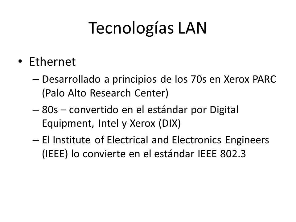 Tecnologías LAN Ethernet