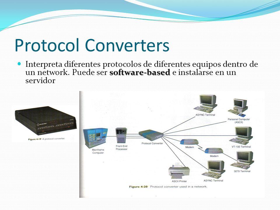 Protocol Converters Interpreta diferentes protocolos de diferentes equipos dentro de un network.