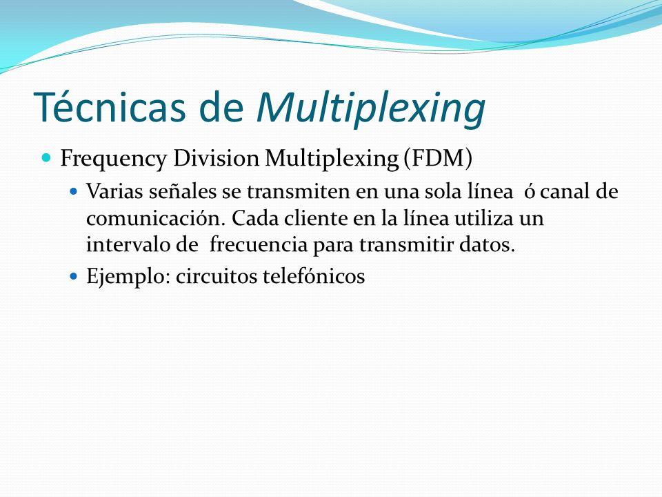 Técnicas de Multiplexing