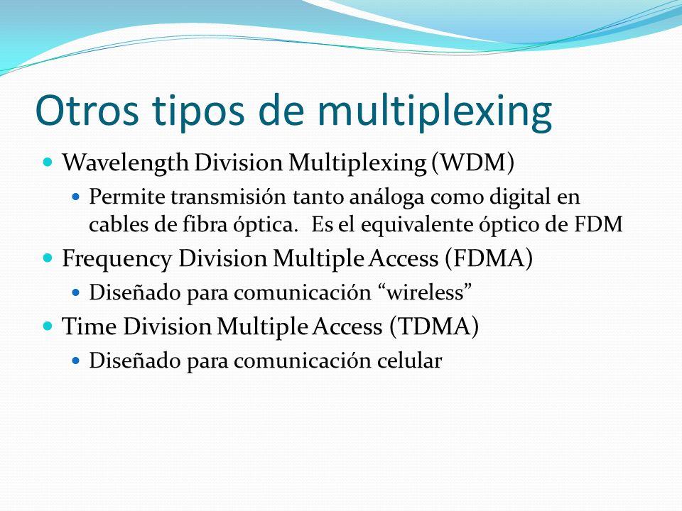Otros tipos de multiplexing