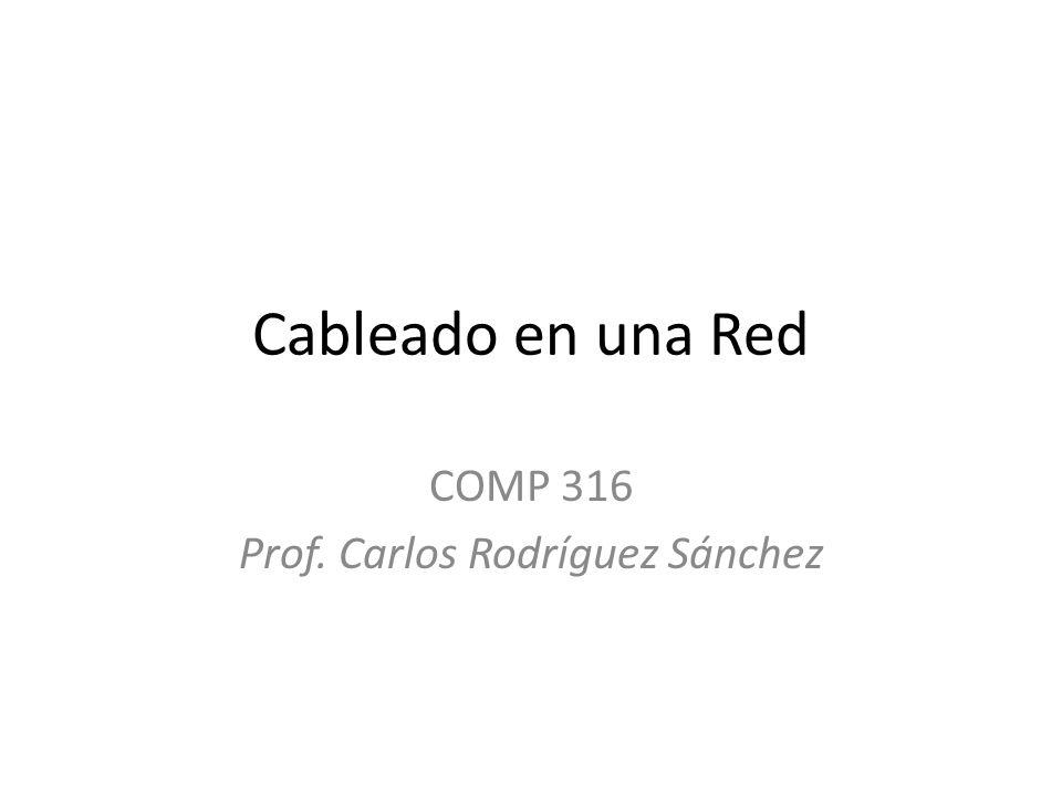 COMP 316 Prof. Carlos Rodríguez Sánchez