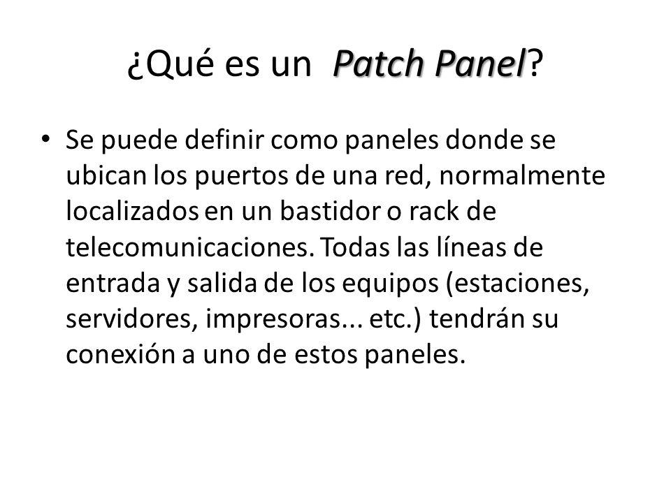 ¿Qué es un Patch Panel