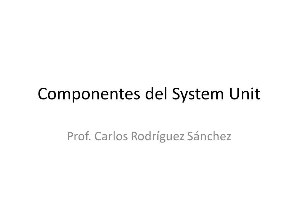 Componentes del System Unit