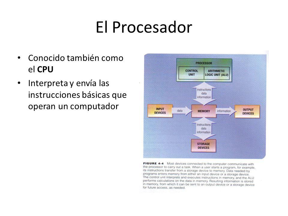 El Procesador Conocido también como el CPU