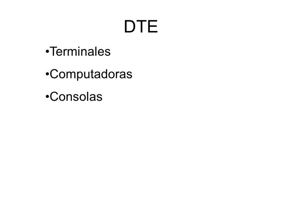 DTE Terminales Computadoras Consolas