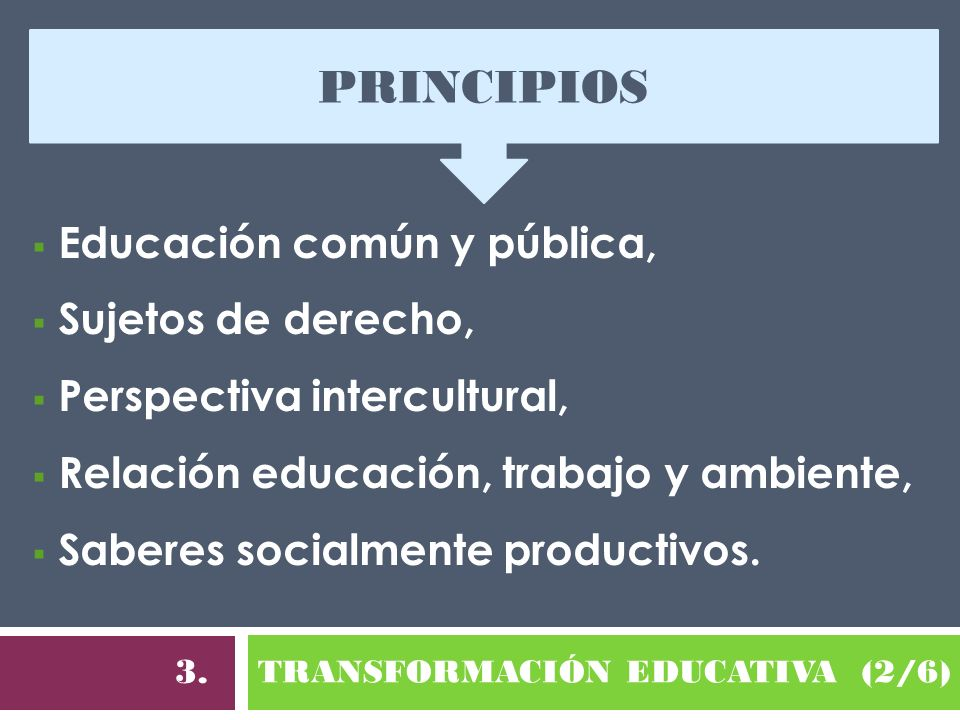 TRANSFORMACIÓN EDUCATIVA (2/6)