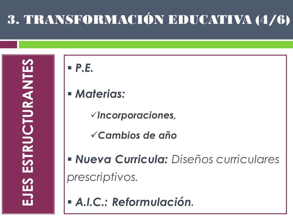 3. TRANSFORMACIÓN EDUCATIVA (4/6)