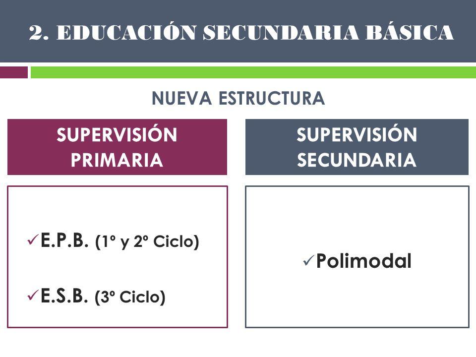 2. EDUCACIÓN SECUNDARIA BÁSICA