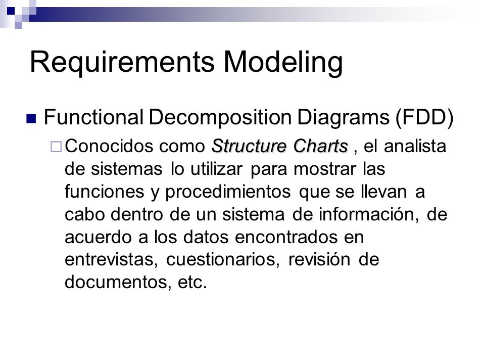 Requirements Modeling