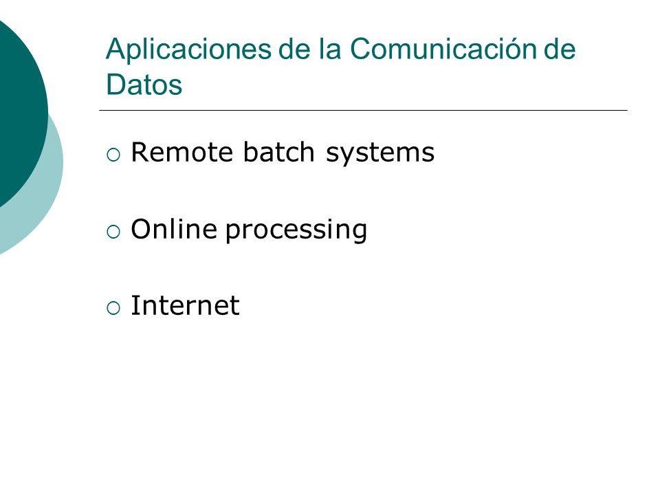 Aplicaciones de la Comunicación de Datos