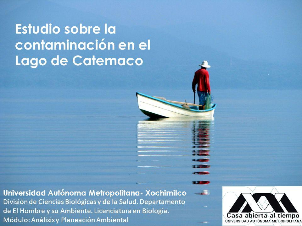 Estudio sobre la contaminación en el Lago de Catemaco