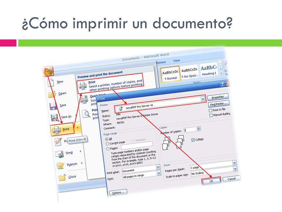 ¿Cómo imprimir un documento