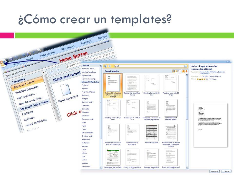 ¿Cómo crear un templates