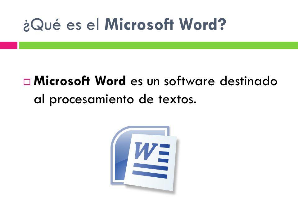¿Qué es el Microsoft Word