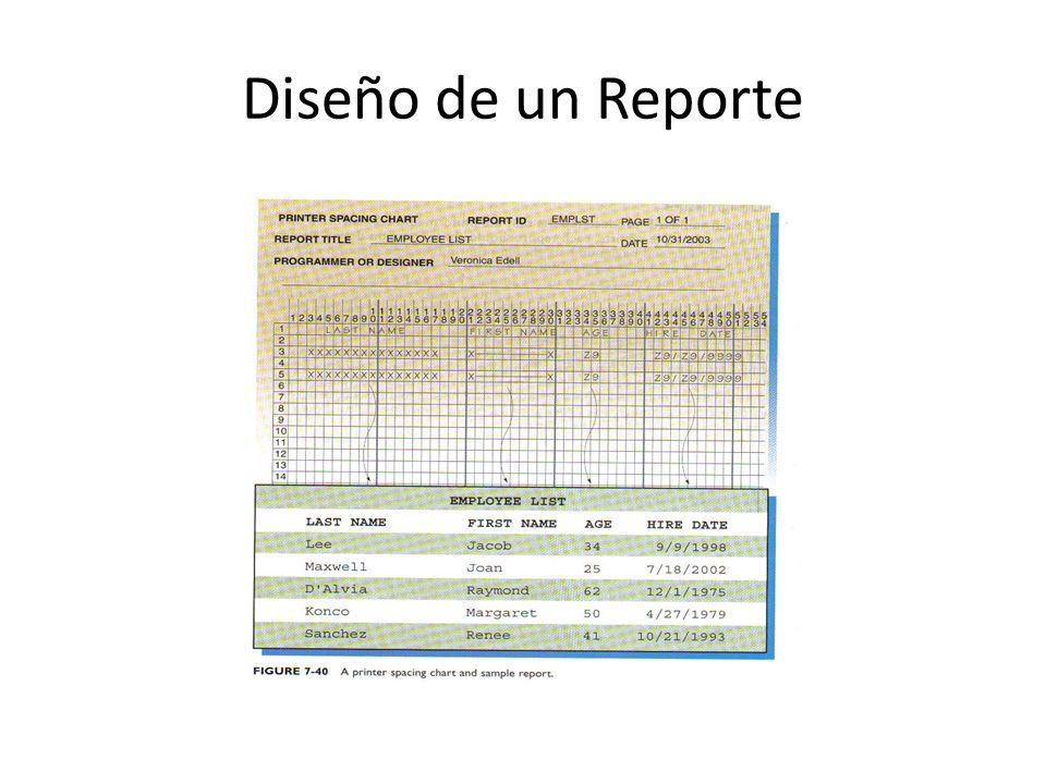 Diseño de un Reporte