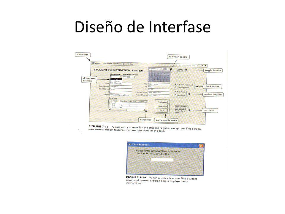Diseño de Interfase