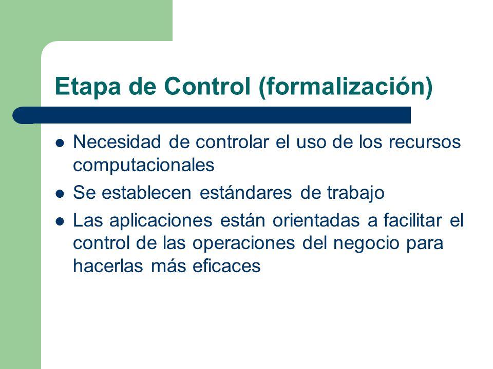 Etapa de Control (formalización)