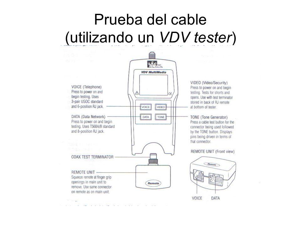 Prueba del cable (utilizando un VDV tester)