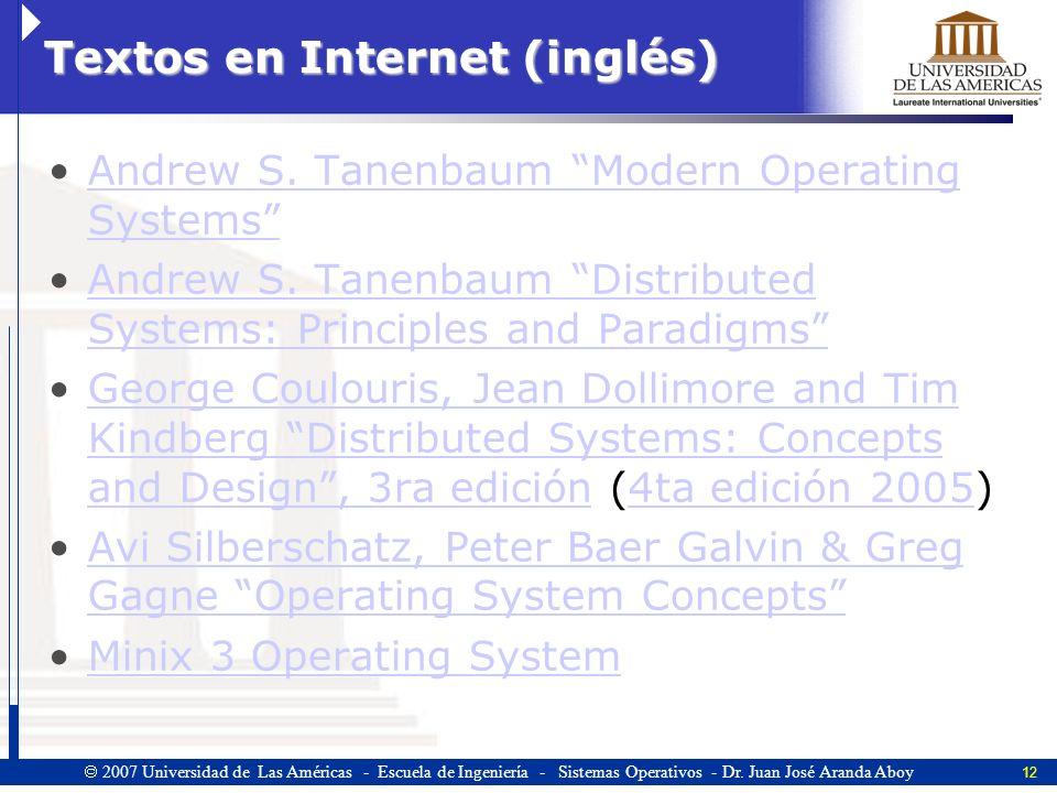 Textos en Internet (inglés)