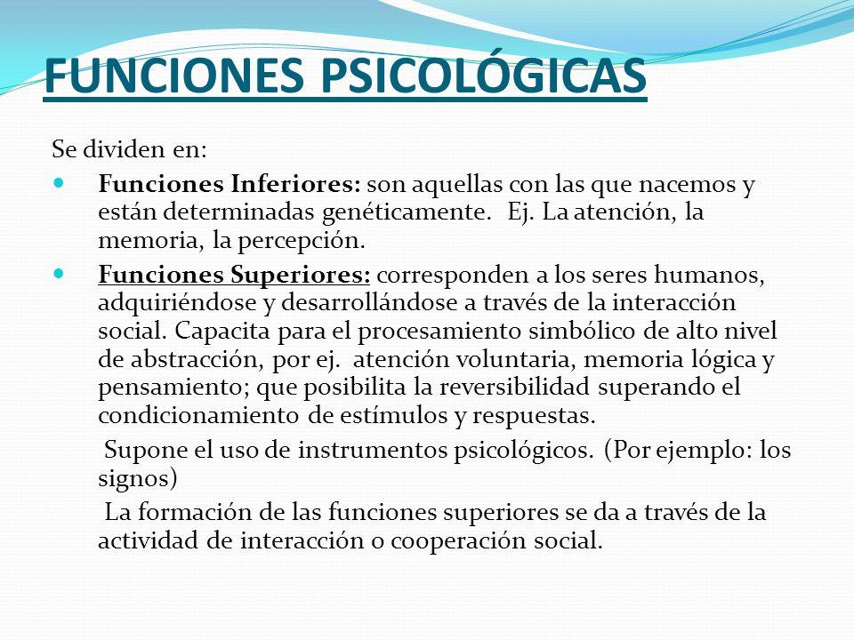 FUNCIONES PSICOLÓGICAS