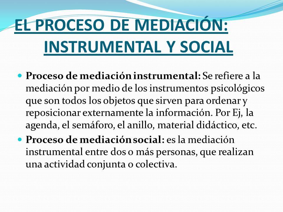 EL PROCESO DE MEDIACIÓN: INSTRUMENTAL Y SOCIAL