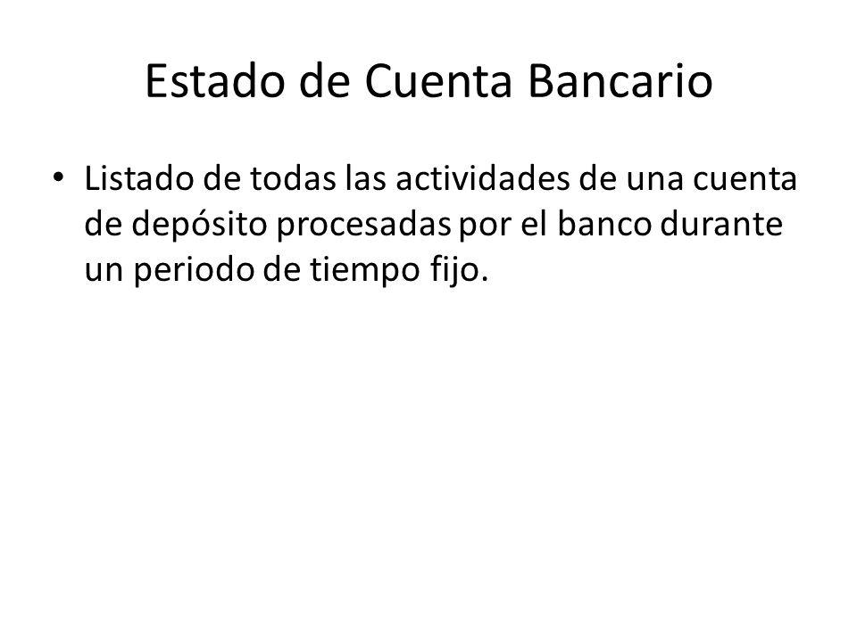 manejo de una cuenta de cheques y reconciliaci u00f3n bancaria