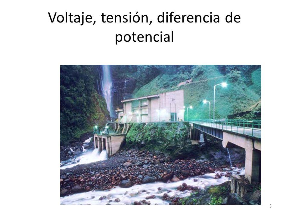 Voltaje, tensión, diferencia de potencial
