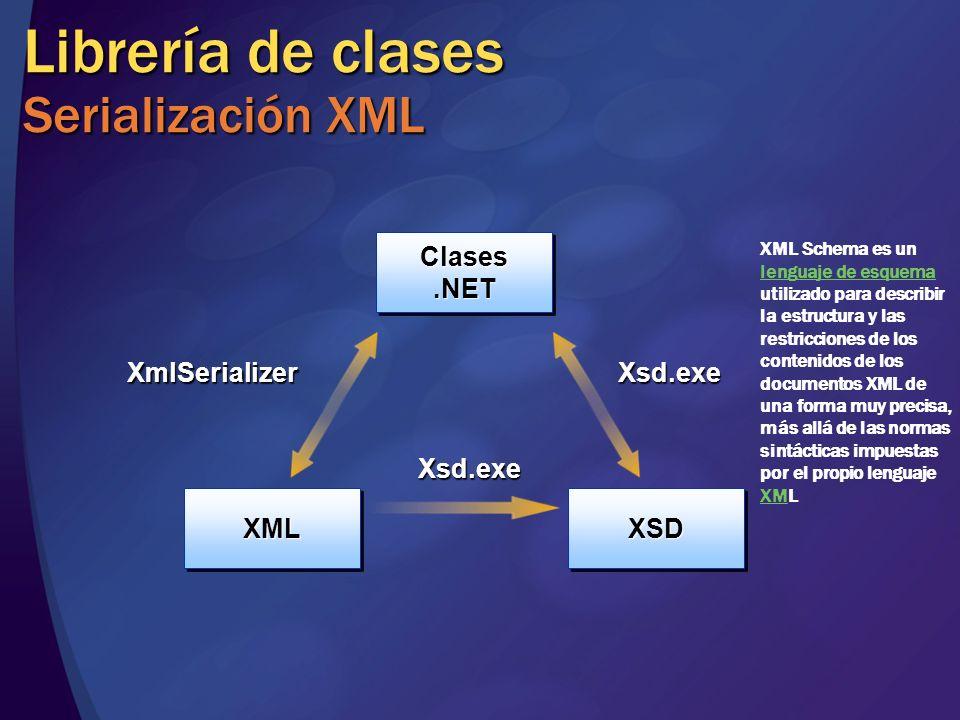 Librería de clases Serialización XML