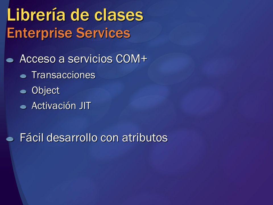Librería de clases Enterprise Services