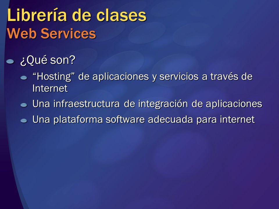 Librería de clases Web Services