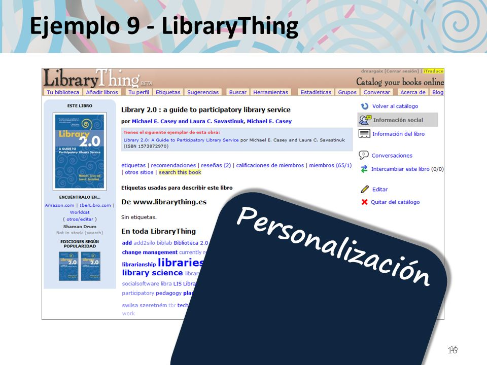 Ejemplo 9 - LibraryThing