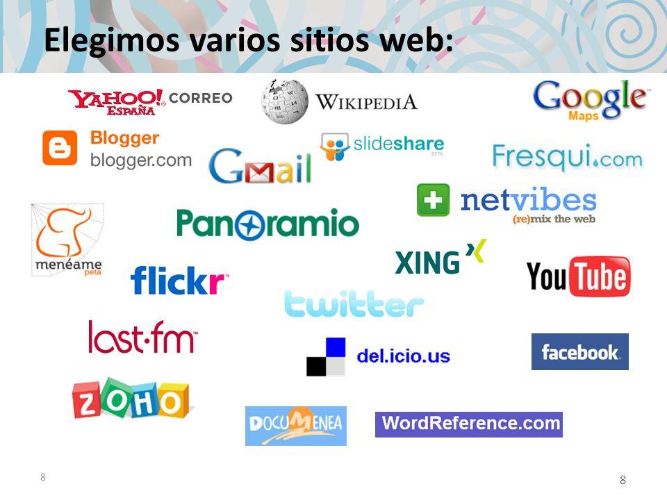Elegimos varios sitios web:
