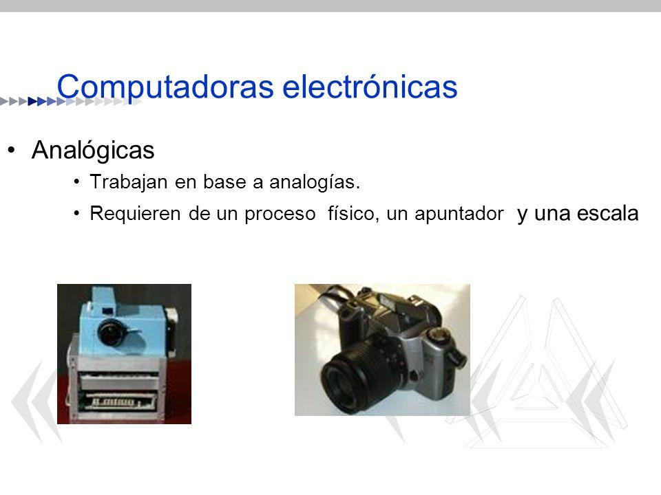 Computadoras electrónicas