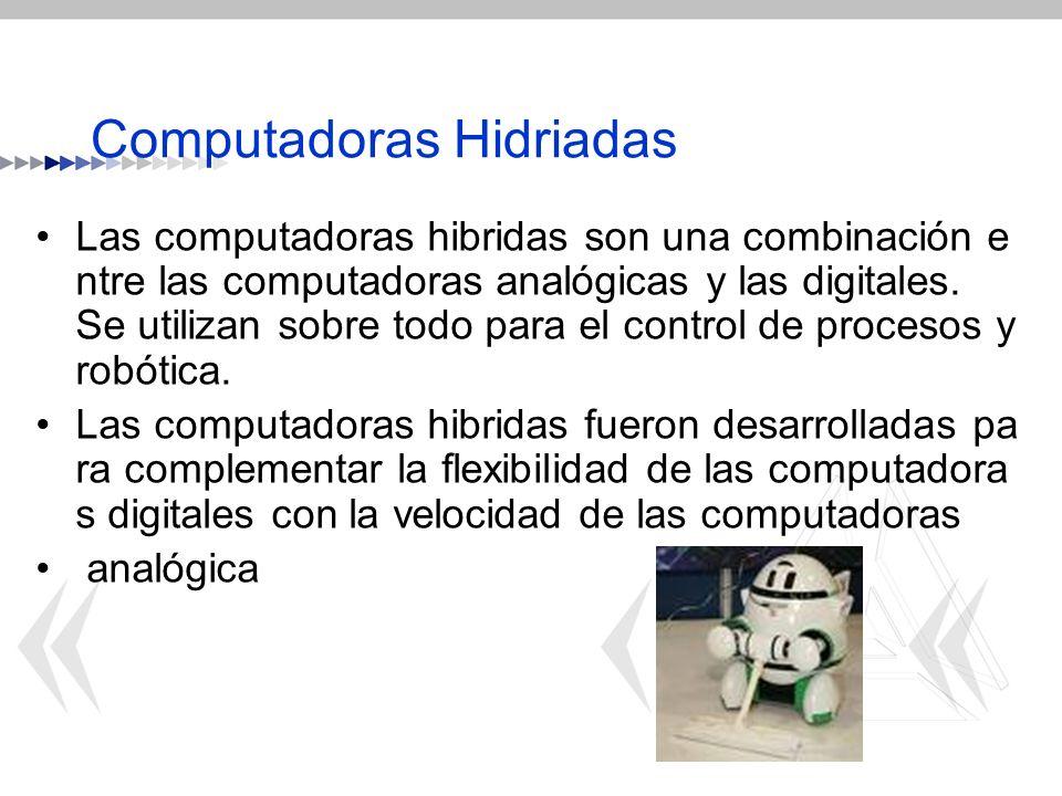 Computadoras Hidriadas