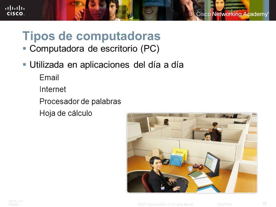 Tipos de computadoras Computadora de escritorio (PC)