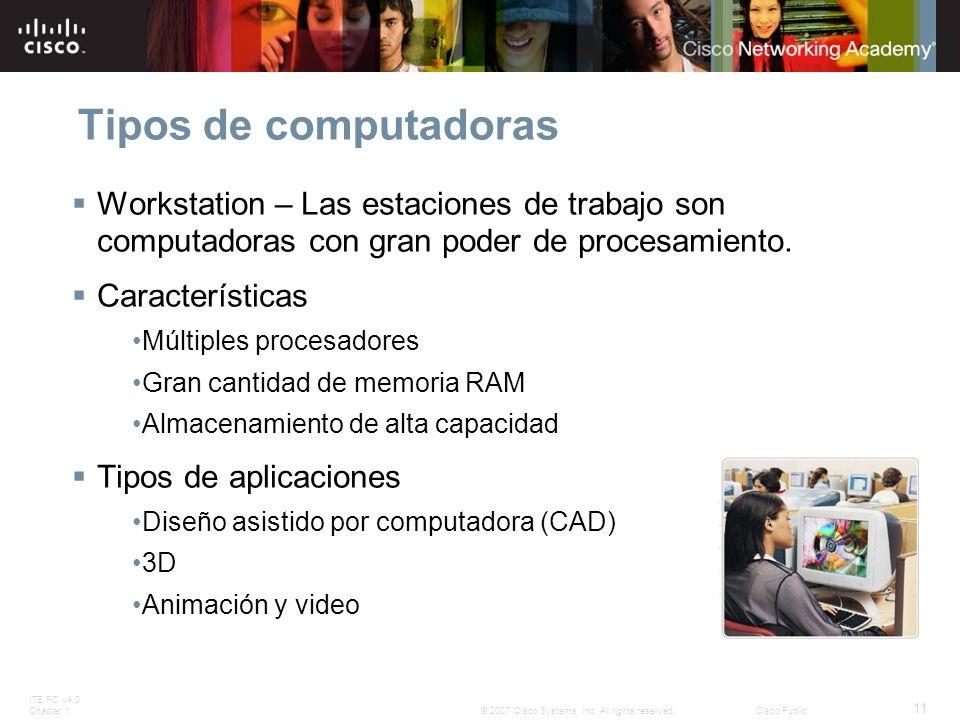 Tipos de computadoras Workstation – Las estaciones de trabajo son computadoras con gran poder de procesamiento.