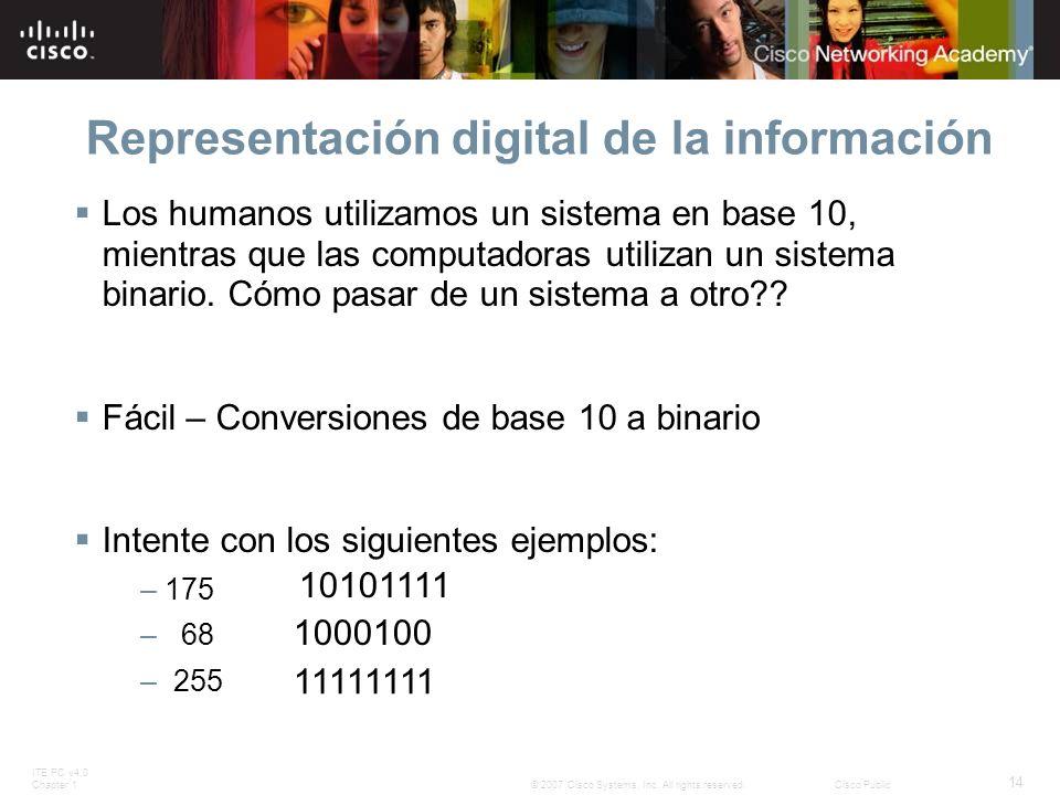 Representación digital de la información