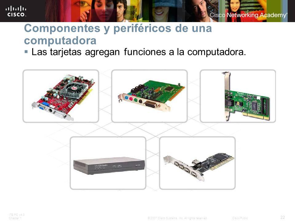 Componentes y periféricos de una computadora
