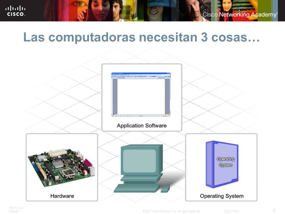 Las computadoras necesitan 3 cosas…