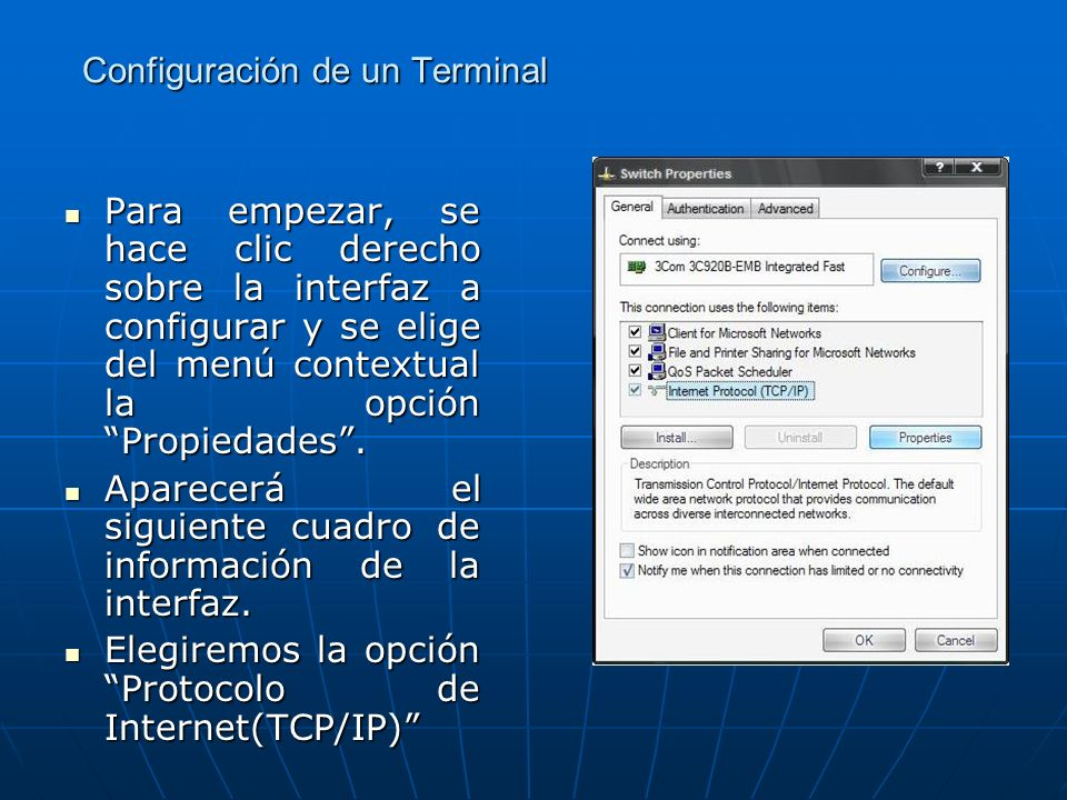 Configuración de un Terminal