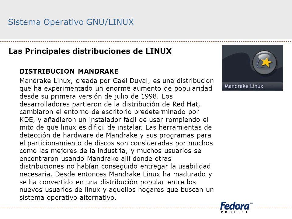 Sistema Operativo GNU/LINUX