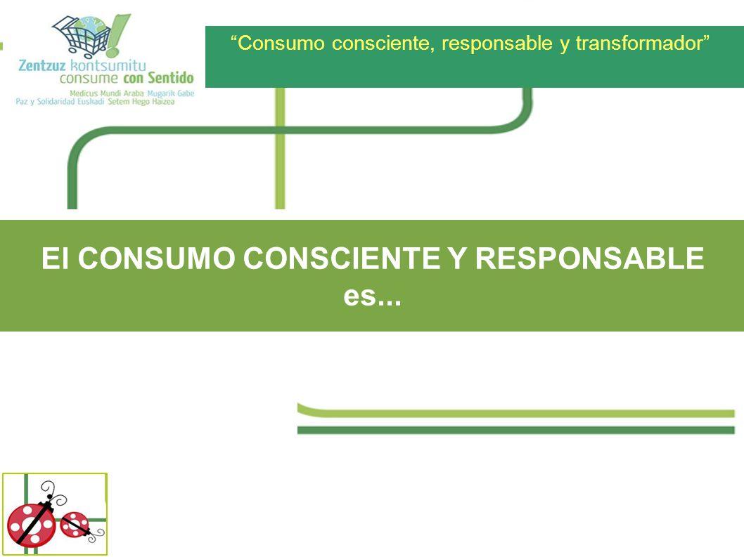 El CONSUMO CONSCIENTE Y RESPONSABLE es...
