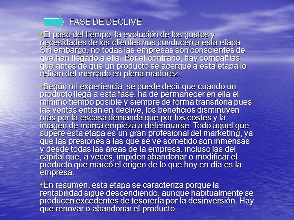 FASE DE DECLIVE