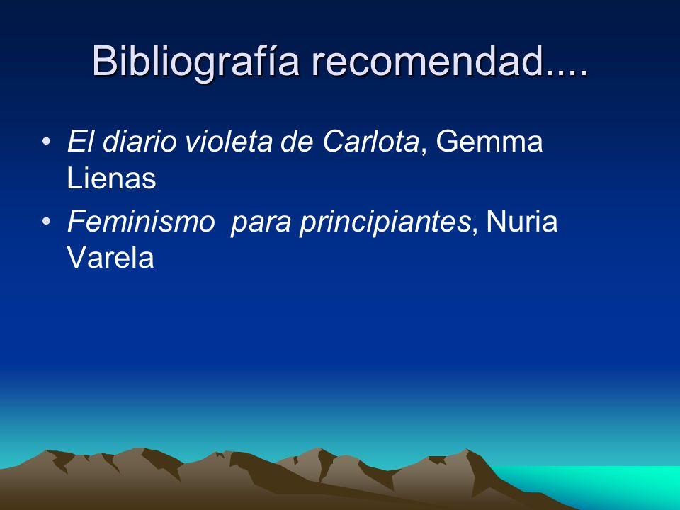 Bibliografía recomendad....
