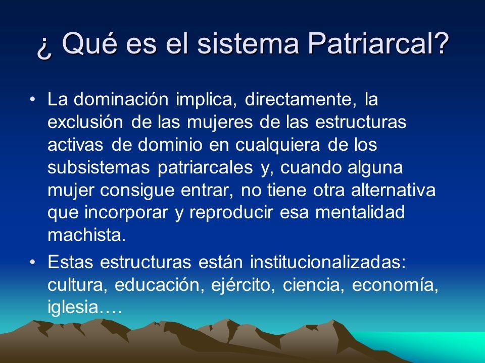 ¿ Qué es el sistema Patriarcal