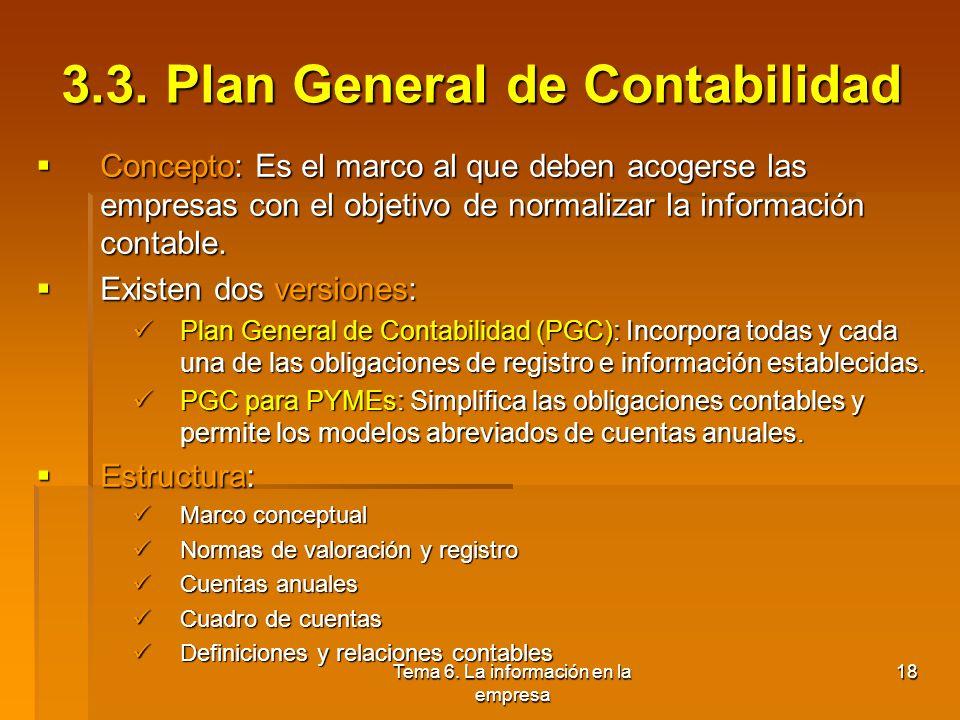 3.3. Plan General de Contabilidad